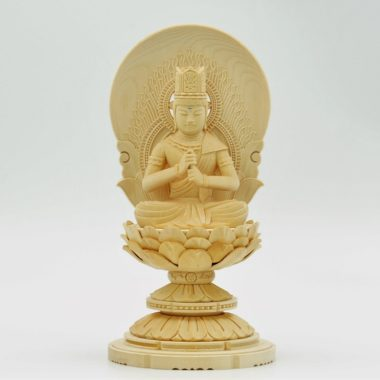 仏像 真言宗 大日如来1.5寸 白木製  丸台座
