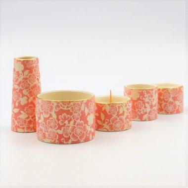 美濃焼仏具 花むすび 桜  丸香炉