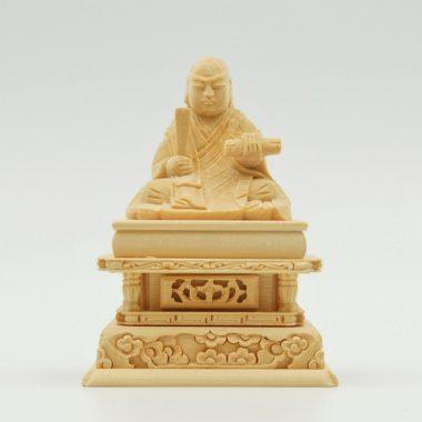 仏像 日蓮上人1.5寸 白木製